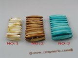 sbr032 8*40mm stick shape stretchy shell bracelets