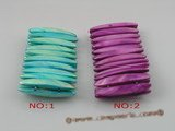 sbr035 8*40mm stick shape stretchy shell bead bracelets
