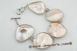 sbr071  20*25mm oval mother of pearl shell bracelets