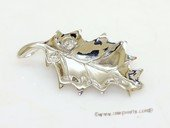 sbrm016 Sterling Silver Leaf Design  Pendant  Brooch Mounting