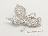 sbrm019 Sterling Silver Sparkling Zircon Mounting For Brooch
