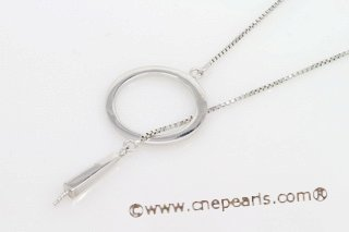 sc004 18inch 925 Sterling silver box chain with pendant mounting