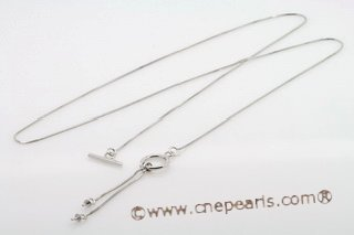 sc006 18inch 925 Sterling silver box chain with pendant mounting