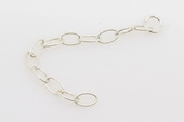 sc022 Sterling Silver Extension chain use for necklace 2inch