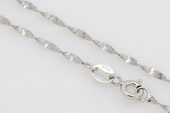 sc027 16inch 925 Sterling silver wave chain use for pendant in wholesale