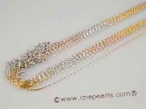 sc030 wholesale Sterling silver pendant chain plate with rose gold,16inch in length