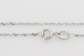 sc040 16inch Sterling silver wave shape pendant necklace chain