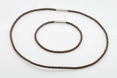sc053 18 inch rubber cord necklace chain