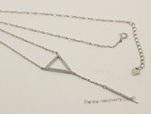 sc087 925 Sterling silver pendant chain