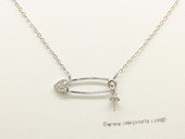 sc088 925 Sterling silver pendant chain