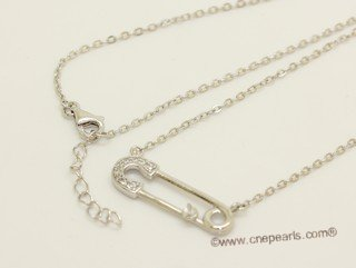 sc093 925 Sterling silver  chain with pendant mounting