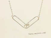 sc094 925 Sterling silver  chain with pendant mounting