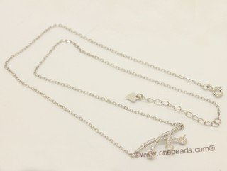 sc096 Sterling silver pendant mounting with 925 silver  chain