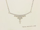 sc100 925 Sterling silver  chain with pendant mounting