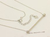 sc102 925 Sterling silver  chain with pendant mounting