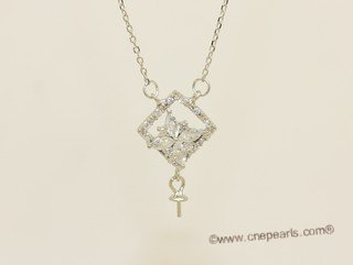 sc107 Sterling silver pendant mounting with 925 silver  chain