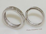 scj003 Womens&Mens  Love Sterling Silver Couple Rings Set