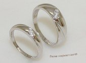 scj008  Clear Zircon 925   Silver  Couple Rings Lover Gift