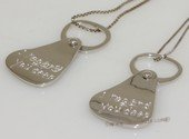 scj014  Sterling Silver Valentine¡¯s Day Gifts  Doulbe Dog Tag Couple Pendant