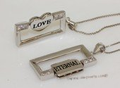 scj020 Eternal Love  Heart   Couple Pair  Sterling Silver Pendant
