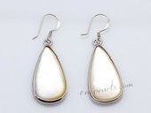se063 wholesale sterling silver oval-drop mother of pearl dangle earrings
