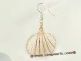 SE067 25mm spiral CONCH Shell 925 silver dangle earrings