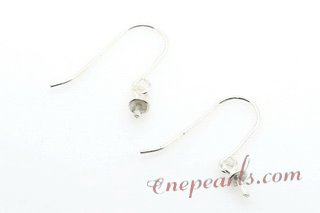 sem004 10 pairs 925silver hook earring with pearl  mounting