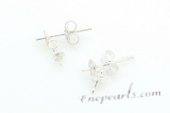 sem015 wholesale 925silver dangle Earrings fitting with sterling studs