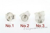 sem021 wholesale 10 pairs  925 silver studs pearl earrings fittings