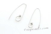 "sem078 wholesale ""S"" shape sterling silver ear wires"