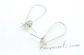 sem081 12*30mm Sterling Silver Pierce Ear Hook