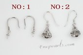 sem087 Sterling Silver Ear Hooks mounting wholesale