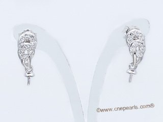 sem125 Wholesale 925 silver Pierce stud earrings fitting in Two Pairs