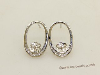 sem144  Wholesale 925 silver Pierce stud earrings fitting