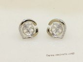 sem149  Wholesale 925 silver Pierce stud earrings fitting