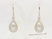 sem162  wholesale Sterling Silver dangle Earrings mountings