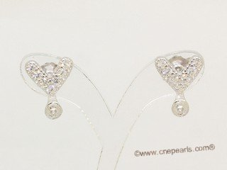 sem166  Wholesale 925 silver Pierce stud earrings fitting