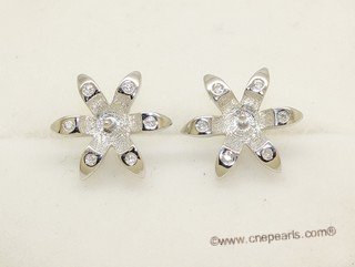 sem170  Sterling silver Pierce ear stud wholesale