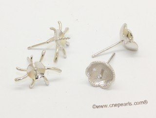 sem171  Wholesale 925 silver Pierce stud earrings fitting