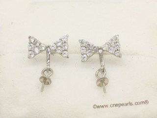 sem172  Wholesale 925 silver Pierce stud earrings fitting