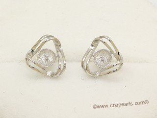 sem175  Wholesale 925 silver Pierce stud earrings fitting