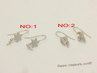 sem183 Wholesale Sterling silver ear hook mounting