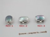 shc009 sterling silver 12*17mm mabe pearl calsp