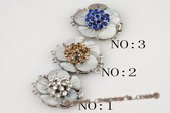 shc022 Hand made 32mm carve flower shell push-in clasp