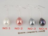 shpe016 Wholesale sterling dangle earring hook dropping 12*15mm tear-drop shell pearl