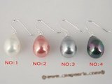 shpe017 12*15mm south sea shell pearl Sterling dangle earrings in wholesale