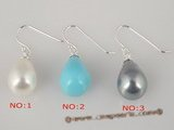 shpe018 wholeslae 10*14mm tear-drp shell pearl dangle earrings on factory price