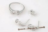 sms019 Sterling silver designer jewelry mountting set in wholesale