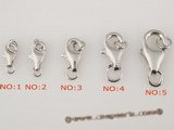 snc001 wholesale multi-size 925 silver lobster necklace clasp(five pieces)