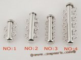 snc016 sterling silver multi-Rows Spacer Clasp in factory prices